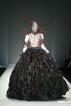 Hu Sheguang creations at China Fashion Week