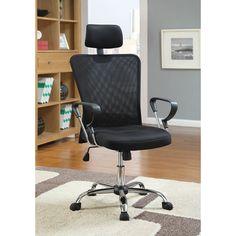 Coaster Company Mesh/Chrome Office Chair (Mesh/Chrome), Black