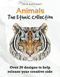 Introducing Color and Create Animals  The Ethnic Collection Vol1 Adult Coloring Book Over 30 Designs to help release your creative side. Buy Your Books Here and follow us for more updates!