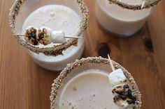 A s'moretini is the perfect campfire cocktail.