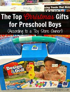 Looking for Christmas gift ideas for Preschool age boys? Check out these recommendations for the top Christmas Gifts for Preschool Boys (as recommended by a Toy Store Owner!) #christmasgifts #christmaspresents #presentsforkids #giftideasforkids