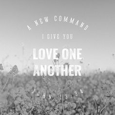 """A new commandment I give unto you, That ye love one another; as I have loved you, that ye also love one another. By this shall all men know that ye are my disciples, if ye have love one to another."" ‭‭John‬ ‭13:34-35‬ ‭KJV‬‬ http://bible.com/1/jhn.13.34-35.kjv"