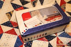 Frivols Collectible Tins by Moda Fabrics  No. 2 Minick & Simpson - Polka Dots and Paisley