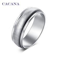 CACANA acier inoxydable anneaux pour les femmes lumineux céramique bijoux en…