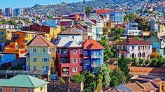 Valparaiso, Chile, South America, cobblestone, streets, architecture