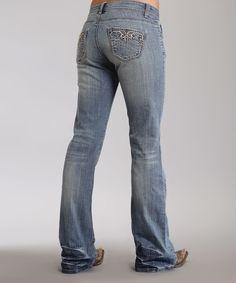 Look what I found on #zulily! Stetson Light Indigo Rhinestone 816 Bootcut Jeans - Women & Plus by Stetson #zulilyfinds