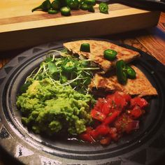 One of my favorites!! Whole wheat #blackbeans #quesadilla with fresh #tomato #salsa #microgreens salad and my #guacamole #yummyinmytummy!!! This is one of my go to meals when I don't know what else to make and/or am in a hurry. What is your good old standby?? #whatveganseat #vegan #vegansofig #veganfoodshare #mexicanfood #meatless #plantbased #healthy #healthyfood #yummy by veganyummytummy