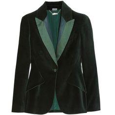 Alexander McQueen Satin-trimmed velvet blazer