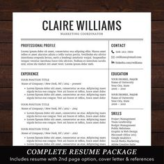 Free Vintage Resume Templates Freeresumetemplates Resume