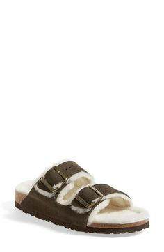 Birkenstock 'Arizona' Genuine Shearling Lined Sandal (Women) | Nordstrom