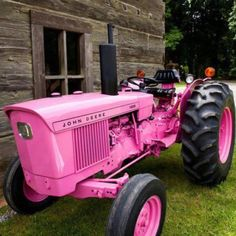 I only like this John Deere because it's pink! Think my dad would paint one of his Case tractors pink? I think so! Vintage Pink, Vintage Farm, Pretty In Pink, Perfect Pink, Pink Tractor, Tractor Seats, Just In Case, Just For You, Tout Rose