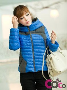 http://www.coco-fashion.com/Blue-Grey-Short-Puffer-Hooded-Winter-2013-Jacket-p17900.html