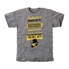 Appalachian State Mountaineers Hi Hi Yikas Roots Tri-Blend T-Shirt - Ash