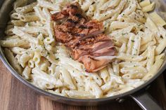 This pollo asado parmesan pasta is a delicious, one pan recipe perfect for any weeknight dinner!