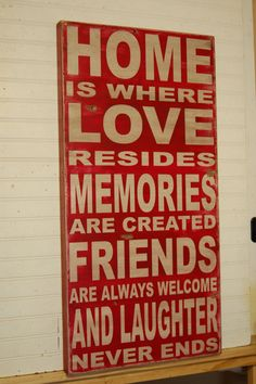 Home is where love resides  large handcrafted all by kspeddler, $110.00