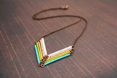 Dancing in the Meadow  Green & Gold Chevron by HoneyThistle