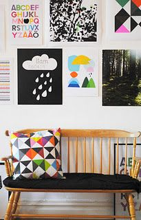 Would make a nice reading area and a place to display child's artwork:)  This would be great in a common area.