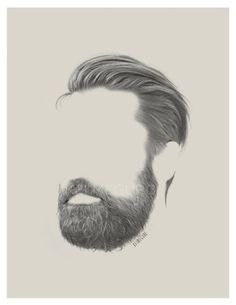 Hair and beard style Mens Hairstyles With Beard, Hair And Beard Styles, Haircuts For Men, Beard No Mustache, Moustache, Bart Tattoo, Hear Style, Beard Art, Hair Sketch