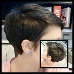 Chocolate pixie #pixiehair #pixiecut #pixie #shorthair #shorthairstyles #girlswithshorthair