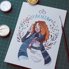 3,969 отметок «Нравится», 32 комментариев — Raquel (@raqueltraveillustration) в Instagram: «little birthday's gift for my sister-in-law ❤ #illustration #gift #ravenclaw #harrypotter…»