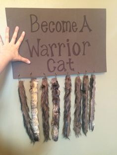Warrior cat tails! Fur cut into strips! Lay a piece of wire down and hot glue it shut! Then they can shape their tails!