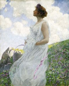 """George Hitchcock (American, 1850-1913), """"Calypso,"""" about 1906; Indianapolis Museum of Art, Purchased with funds from Mrs. John M. Judah, Newton Booth Tarkington, Clarence Wulsin, Stoughton Fletcher, an anonymous donor, and the John Herron Fund, 11.80"""