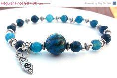 Goddess Bracelet Blue Bracelet by BlueStoneRiver, $24.30