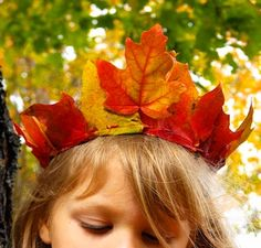 Sweet, sweet, sweet leaf headdress!  The first time Maisie plays a leaf in the school play, I'm onto it!