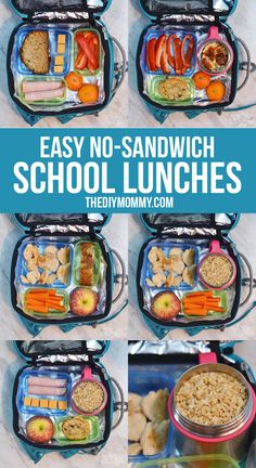 Easy No-Sandwich School Lunch IdeasYou can find Kids lunch ideas for school for picky eaters and more on our website.Easy No-Sandwich School Lunch Ideas Cold School Lunches, Kids Lunch For School, Healthy Lunches For Kids, Toddler Lunches, Kids Meals, Cold Lunch Ideas For Kids, Packing School Lunches, School School, Bento Box Lunch For Kids