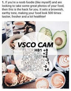 VSCO - Best Filters For Instagram Success! No. 1 Food http://minivideocam.com/how-to-choose-the-best-camera-for-youtube/ More