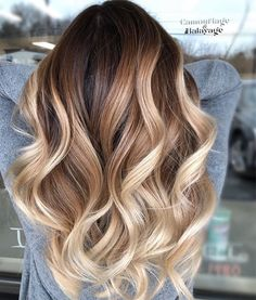 33 trendy ombre hair color ideas of 2019 - Hairstyles Trends Brown Ombre Hair, Ombre Hair Color, Hair Color Balayage, Long Ombre Hair, Onbre Hair, Blonde Hair, Balayage Highlights, Fall Balayage, Gorgeous Hair