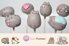 cocomori: we love Pusheen! so we made some Pusheen cake pops.