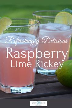 Raspberry Lime Rickey is a refreshingly delicious summer cocktail. Tangy with li. - Raspberry Lime Rickey is a refreshingly delicious summer cocktail. Tangy with lime, slightly sweete - Tequila, Pina Colada, Party Drinks, Cocktail Drinks, Lime Cocktail Recipes, Non Alcoholic Drinks, Beverages, Alcohol Drink Recipes, Fireball Recipes