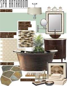 """""""Luxury Spa Bathroom"""" by clara-bow80 ❤ liked on Polyvore"""