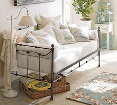 """Bought this one with the trundle~works Great with the Home Office~House of History, LLC. Wanting to learn about your """"family history a mystery?"""" We can do it.    Savannah Daybed with Trundle #potterybarn"""