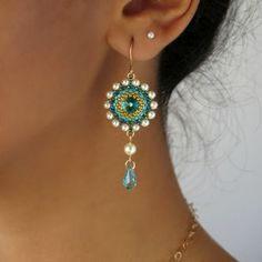 online shopping for Handmade Swarovski Turquoise Crystal Goldfilled Long Drop Earrings from top store. See new offer for Handmade Swarovski Turquoise Crystal Goldfilled Long Drop Earrings Prom Earrings, Wedding Earrings, Bead Earrings, Etsy Earrings, Pendant Necklace, Earrings Handmade, Handmade Jewelry, Swarovski Crystal Earrings, Swarovski Pearls