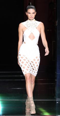 Present day: Kendall is now one of the biggest models of the moment, walking in runway shows for Givenchy, Chanel, and Balmain. Above, she's seen strutting down the catwalk at Balmain's spring 2016 show at Paris Fashion Week