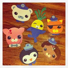 Octonauts characters from construction paper