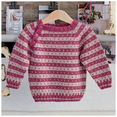 Babytrøje af alpaka Baby Cardigan Knitting Pattern Free, Baby Boy Knitting Patterns, Baby Sweater Patterns, Knitting For Kids, Baby Patterns, Baby Boy Sweater, Knit Baby Sweaters, Punto Fair Isle, Knitted Booties