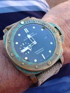 bronze Panerai with rust patina #watches