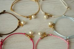 Cord & Pearl Bracelet