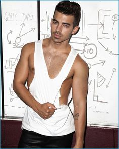 Joe Jonas poses for a provocative image for Notion magazine, which exposes his nipple.