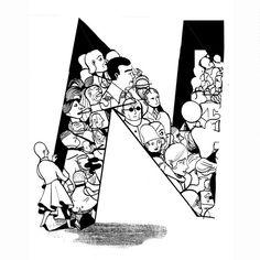 Great illuminated alphabet by illustrative duo Icinori