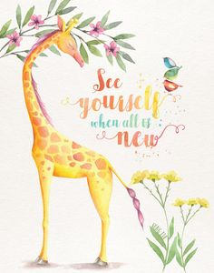 'See Yourself When All is New' Poster by goodnewsgifts Watercolor Pictures, Watercolor Animals, Caleb Y Sofia, Pioneer Gifts, Jw Pioneer, Pioneer School, Jw Gifts, Framed Prints, Canvas Prints