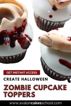 Interested in making some horror movie cupcake toppers or cake toppers for your Halloween party this year? Want to give your bakery customers a fun cupcake decoration idea this fall? Learn how to make our edible Zombie cupcake toppers including Zombie fingers and Zombie ears. You can check out this advanced cake decorating tutorial thorough our cake decorating membership. Avalon Cakes School provides hundreds of cake tutorials, cookie tutorials, and cake decorating masterclasses.