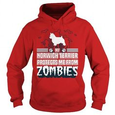 #tshirtsport.com #besttshirt # My Norwich Terrier protects me from zombies   My Norwich Terrier protects me from zombies  T-shirt & hoodies See more tshirt here: http://tshirtsport.com/