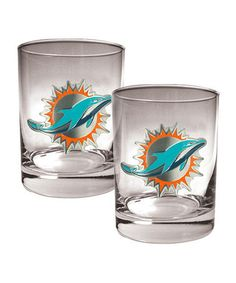 Take a look at this Miami Dolphins Rocks Glass - Set of Two by Great American Products on #zulily today!