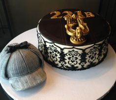 Sherlock Holmes inspired cake by 3 Women and an Oven www.3womendesserts.com
