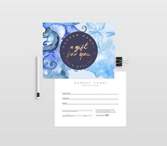 Tropical Double Sided Gift Certificate Template  Instant Download