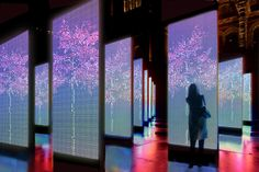 Digital Park -  a concept for creating a urban city space. The touch panel changes its color by temperature and sound by Karen Chiu